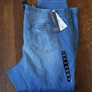 NWT TORRID destructed boyfriend jeans 22xs